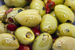 Green olives. Royalty Free Stock Photography