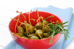 pickled caper berries Stock Images