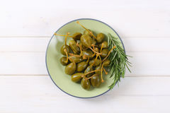 pickled caper berries Stock Photo