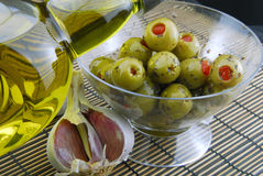 Green olives stuffed Royalty Free Stock Photography