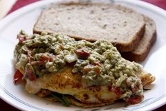 Green omlet Stock Images