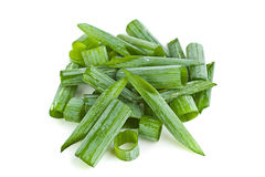 Green onion chopped slice Royalty Free Stock Photos