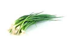 Green onion isolated on the white Royalty Free Stock Photo