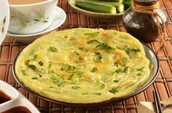 Green onion pancake Stock Photography