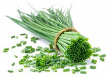 Green onion on the white background. Royalty Free Stock Photography