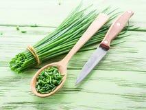 Green onions. royalty free stock photo