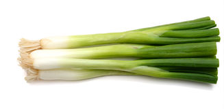 Green onions. (sometimes called shallots or scallions), isolated on white Stock Photography