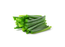 Green onions on a white background Stock Photography