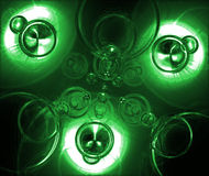 Green Ooz. Splashes of Green Drips Royalty Free Stock Image