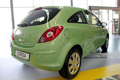 Green Opel Corsa Stock Photo