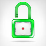 Green open code padlock symbol design  Royalty Free Stock Photos
