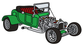 Green open hot rod Stock Photography