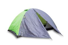 Green open tourist tent Stock Photography