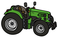Green open tractor Royalty Free Stock Images