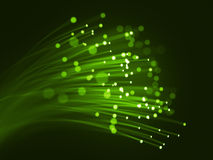 Green optic fibers Royalty Free Stock Photos