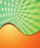 Green and orange abstract background. eps10 Royalty Free Stock Images
