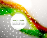 Green orange blur wave background Royalty Free Stock Images