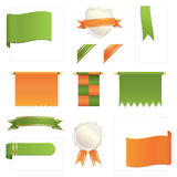 Green and orange design elements Royalty Free Stock Photo