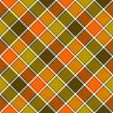 Green orange diagonal check plaid seamless pattern Royalty Free Stock Photo