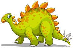 Green and orange dinosaur Royalty Free Stock Images