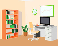 Green orange eco office Stock Photography