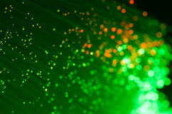 Green And Orange Fiber Optics Royalty Free Stock Photo