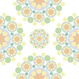 Green orange flower snowflakes Royalty Free Stock Photography