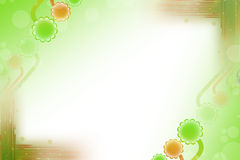green and orange flowers, abstract background Royalty Free Stock Photo