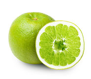 Green orange fruit isolated Stock Image