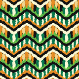 Green and Orange Hippie Pattern Stock Photo
