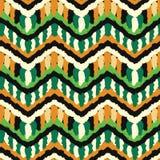 Green and Orange Hippie Pattern Stock Photo