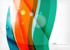 Green and orange lines modern abstract background Stock Photos