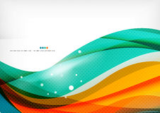 Green and orange lines modern abstract background Royalty Free Stock Photos
