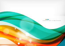 Green and orange lines modern abstract background Royalty Free Stock Photography
