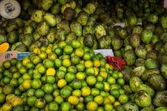 Green orange local on traditional market photo taken in bogor jakarta indonesia Royalty Free Stock Photos