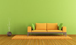 Green and orange lounge Stock Image
