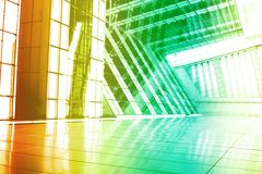 Green Orange Modern Building Abstract Royalty Free Stock Images