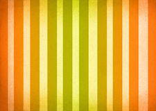 Green and Orange Ombre Stripes. Green and orange stripes with shadowed or antiqued edges Royalty Free Stock Image