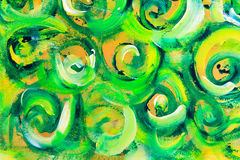 Green and orange painted texture background Royalty Free Stock Photo