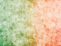 Abstract background. Green orange shapes polygon abstract  background Stock Photo