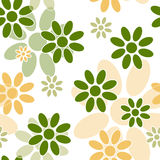 Green and orange simple flower seamless pattern Royalty Free Stock Photography