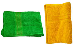 Green and Orange towels Stock Photography