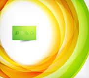 Green and orange wave abstract background. With plate Stock Images
