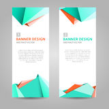 Green, orange and white abstract background banner. Illustration stock illustration