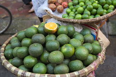 Green oranges Royalty Free Stock Image