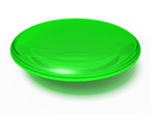 Green orb. An isolated green transparent orb on white background Stock Photography