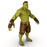 Green Orc  on White 3D Illustration Stock Photo