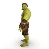 Green Orc  on White 3D Illustration Royalty Free Stock Photo