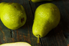 Green Organic Bartlett Pears Stock Photos