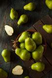 Green Organic Bartlett Pears Stock Images